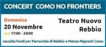 Concert Como NO Frontiers, raccolta fondi, migranti